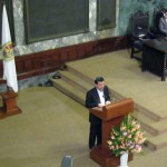 Ahmadinejad giving lecture in Havana