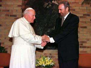 Pope John Paul II & Fidel Castro